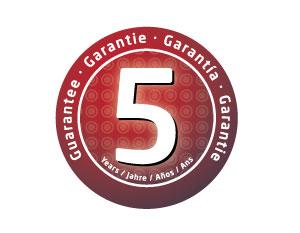 5 Jahre Garantie!